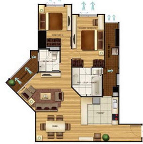2 bed 2 baht Belle Grand Rama 9 (2)